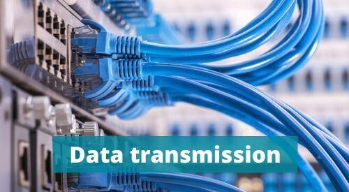 Serial and parallel data transmission. Data transfer in encoder as example